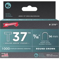 Arrow T37 Round Crown Staples 14mm Pack of 1000