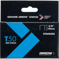 Arrow T50 Stainless Steel Staples 10mm Pack of 1000