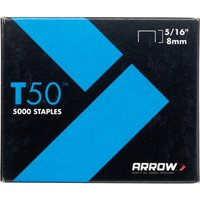 Arrow T50 Staples 8mm Pack of 5000