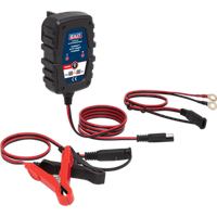 Sealey 100HF Compact Auto Smart 1amp Battery Charger 6v or 12v