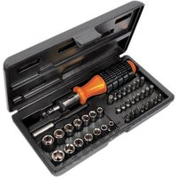 """Avit 40 Piece 1/4"""" Drive Hex Socket and Screwdriver Bit Set Metric and Imperial"""