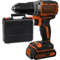 Black and Decker BL186 18v Cordless Brushless Drill Driver 1 x 1 5ah Li ion Charger Case