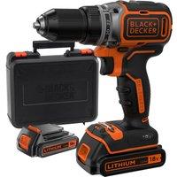 Black & Decker BL186 18v Cordless Drill Driver 2 x 1.5ah Li-ion Charger Case
