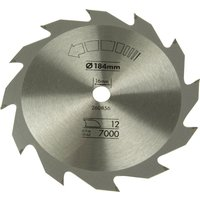 Black & Decker Piranha Circular Saw Blade 184mm 12T 16mm