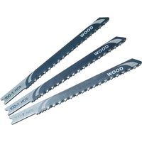 Black and Decker X21023 Piranha Wood HCS Medium U Shank Jigsaw Blades Pack of 3