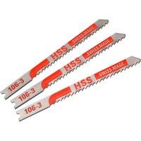 Black and Decker X22013 Piranha Metal HSS U Shank Jigsaw Blades Pack of 3