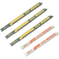 Black and Decker X27040 Piranha 5 Piece Metal and Wood HCS   HSS U Shank Jigsaw Blade Set