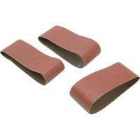 Black & Decker Sanding Belts White Alox 75mm x 457mm 75mm x 457mm 40g Pack of 3