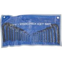 BlueSpot 25 Piece Hexagon Allen Key Pouch Set Metric and Imperial