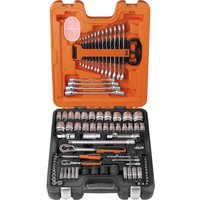 Bahco S87+7 94 Pieces 1/4 & 1/2In Drive Socket & Spanner Set Combination