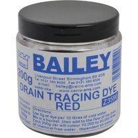 Bailey Drain Tracing Dye Red 200g