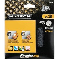 Black and Decker Piranha Hi Tech Quick Fit Mesh ROS Sanding Sheets 115mm 115mm 120g Pack of 3