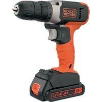 Black and Decker BCD001C2K 18v Cordless Drill Driver 1 x 1 5ah Li ion Charger No Case
