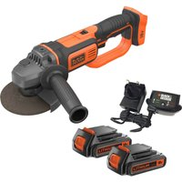 Black and Decker BCG720 18v Cordless Angle Grinder 125mm 2 x 2ah Li ion Charger No Case