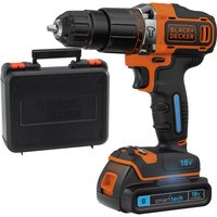 Black and Decker BDCHD18KST 18v Cordless Smart Tech Combi Drill 1 x 1 5ah Li ion Charger Case