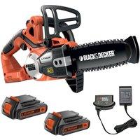 Black & Decker GKC1820L 18v Cordless Chainsaw 200mm 2 x 2ah Li-ion Charger