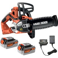 Black & Decker GKC1820L 18v Cordless Chainsaw 200mm 2 x 4ah Li-ion Charger