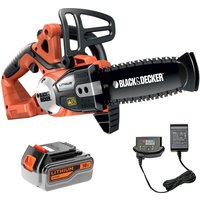 Black & Decker GKC1820L 18v Cordless Chainsaw 200mm 1 x 4ah Li-ion Charger