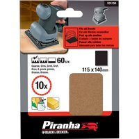 Black and Decker Piranha 1 4 Sanding Sheets 60g Pack of 10