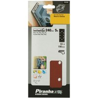 Black and Decker Piranha Quick Fit Punched 1 3 Sanding Sheets 240g Pack of 5