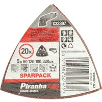 Black and Decker Piranha Quick Fit Delta Sanding Sheets Assorted Grit Pack of 20