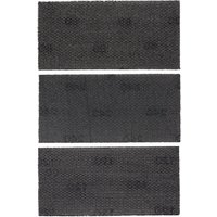 Black & Decker Piranha 93mm x 190mm Mesh Sanding Sheet 93mm x 190mm 240g Pack of 3