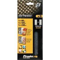 Black and Decker Piranha Hi Tech Mesh 1 3 Sanding Sheets 93mm x 230mm 80g Pack of 3
