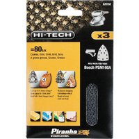 Black and Decker Piranha Hi Tech Quick Fit Multi Sander Delta Sanding Sheets 80g Pack of 3