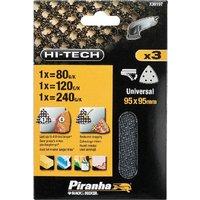 Black and Decker Piranha Hi Tech Quick Fit Mesh Delta Sanding Sheets 95mm x 95mm 120g Pack of 3
