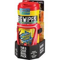 Big Wipes Red Top Heavy-Duty Wipes Tub Of 80+25% inc Van Wall Bracket Pack of 80