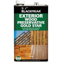 Blackfriar Exterior Wood Preserver Gold Star Ebony 5l