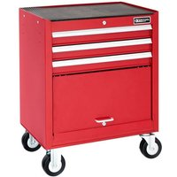 Britool 3 Drawer Roller Cabinet Red