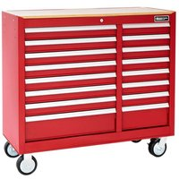 Britool 16 Drawer Roller Cabinet Red
