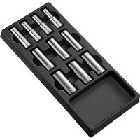 """Expert by Facom 10 Piece 1/2"""" Drive Deep Socket Set Metric in Module Tray 1/2"""""""