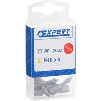 Expert by Facom Torsion Phillips Screwdriver Bit PH1 25mm Pack of 6