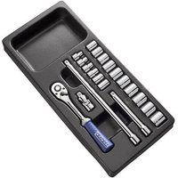 Britool Expert 20 Piece 3/8 Drive Bi Hex Socket Set Metric in Module Tray 3/8