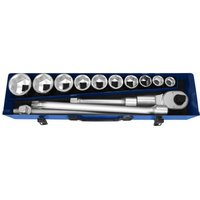 Britool 14 Piece 3/4 Drive Hex Socket Set Metric 3/4