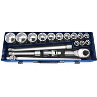 Britool 20 Piece 3/4 Drive Hex Socket Set Metric 3/4