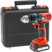 Black & Decker EGBL18K 18v Cordless Drill Driver 1 x 1.5ah Li-ion Charger Case