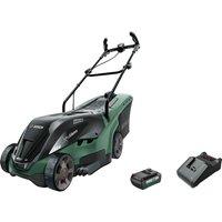 Bosch UNIVERSALROTAK 36-550 36v Cordless Rotary Lawnmower 380mm 1 x 1.3ah Li-ion Charger