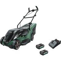Bosch UNIVERSALROTAK 36-550 36v Cordless Rotary Lawnmower 380mm 2 x 2ah Li-ion Charger