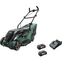 Bosch UNIVERSALROTAK 36-550 36v Cordless Rotary Lawnmower 380mm 2 x 4ah Li-ion Charger