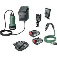 Bosch GARDENPUMP 18 18v Cordless Submersible Water Pump 2 x 2 5ah Li ion Charger