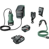 Bosch GARDENPUMP 18 18v Cordless Submersible Water Pump 1 x 4ah Li ion Charger