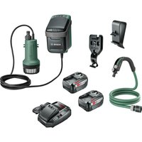Bosch GARDENPUMP 18 18v Cordless Submersible Water Pump 2  x 6ah Li ion Charger