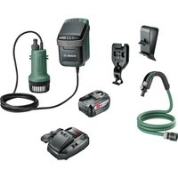 Bosch GARDENPUMP 18 18v Cordless Submersible Water Pump 1 x 6ah Li ion Charger