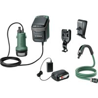 Bosch GARDENPUMP 18 18v Cordless Submersible Water Pump 1 x 2 5ah Li ion Charger