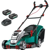 Bosch ROTAK 43 LI ERGOFLEX 36v Cordless Rotary Lawnmower 430mm 2 x 2ah Li-ion Charger