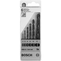Bosch 6 Piece HSS-R Metal Drill Bit Set
