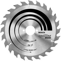 Bosch Optiline Wood Cutting Saw Blade 184mm 48T 16mm
